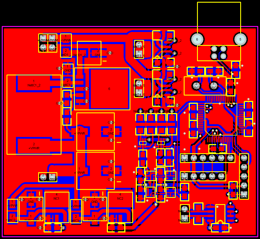 Printed circuit board for steering wheel.
